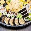 Sushi set takeaway. Traditional Japanese food. — Stock Photo #43633661