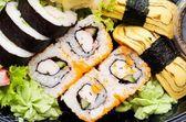 Close up of traditional japanese sushi set — Stock Photo