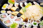 Close up of traditional japanese sushi set — Stock Photo