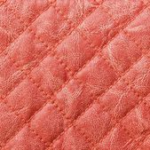 Red stitched leather texture background — Stock Photo