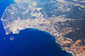 Aerial photo of the French Riviera — Стоковое фото