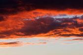 Pôr do sol à noite — Fotografia Stock