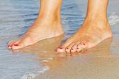 Feet in the sand — Stok fotoğraf