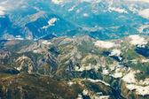 Aerial photo of mountains — Stock Photo