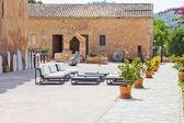 Spanish interior courtyard — Stock Photo