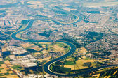 Aerial photo of the Rhine — Stock Photo