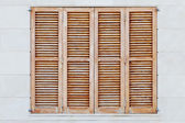 Brown shutters — Stock Photo