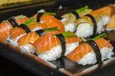 Sushi with salomon — Stock Photo
