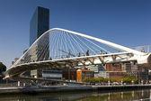 Zubizuri footbridge, Bilbao, Bizkaia, Basque Country, Spain — Stock Photo