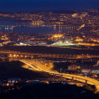 Stock Photo: Nightfall in great Bilbao, Bizkaia, Basque Country, Spain