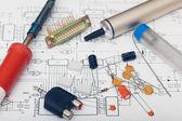 Componenti elettronici — Foto Stock