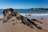 Beach of Comillas, Cantabria, Spain — Stock Photo