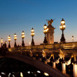 Alexander III bridge, Paris, France — Stock Photo #17882615
