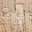 Hieroglyphs in the Edfu temple, Egypt — Stock Photo
