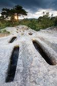 Necropolis of Cuyacabras, Quintanar de la Sierra, Sierra de la D — Stock Photo