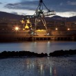 Crane in Sestao, Bizkaia, Basque Country, Spain — Stock fotografie