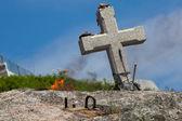 Cross in Fisterra, La Coruna, Galicia, Spain — Stock Photo