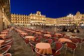 Mayor square, Salamanca, Castilla y Leon, Spain — Stock Photo