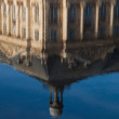 Reflect in the square of the bourse, Bordeaux, Gironde, Aquitain — Foto de Stock