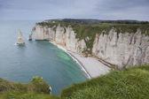 Coast in Etretat, Haute Normandie, France — Stock Photo