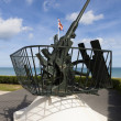 Anti-Aircraft, Arromanches-les-bains, Calvados, Basse-Normandie, — Stock Photo