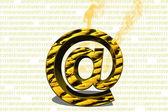 Email simbol — Stock Photo