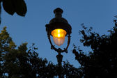 Streetlamp in the Tulleries, Paris, Ile de France, France — Stock Photo