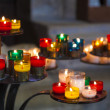 Candles in the Cathedral of Reims, Marne, Champagne-Ardenne, Fra — Stock Photo
