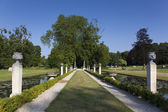 Gardens of Chantilly castle, Picardie, France — Stock Photo
