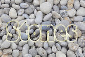 Stones in the beach of Etretat, Haute Normandie, France — Stock Photo