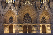 Cathedral of Reims, Marne, Champagne-Ardenne, France — Stock Photo