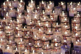 Candles in the cathedral of Chartres, Eure-Et-Loir, Centre, Fran — Stock Photo