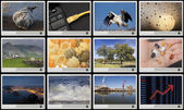 Pantallas hd widescreen con múltiples imágenes — Foto de Stock