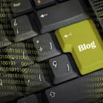 Word blog in black keyboard — Stock Photo #48789641