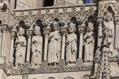 Detail of the cathedral of Amiens, Picardy, France — Stock Photo