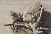 Detail of the Arc de Triomphe, Paris, Ile de  france, France — Stock Photo