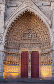 Entrance of the cathedral of Amiens, Picardy, France — Stock Photo