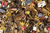 Padlocks in the Pont des arts, Paris, France — Stock Photo