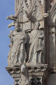 Detail of the Siena cathedral, Tuscany, Italy — Stock Photo