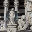 Detail of the Siena cathedral, Tuscany, Italy — Stock Photo #48810133