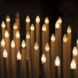 Artificial candles, Cathedral of Pisa, Piazza dei Miracoli, Pisa — Stock Photo