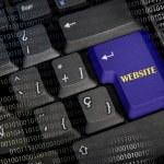 Word website in black keyboard — Stock Photo #48813129