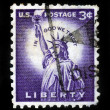 Statue of Liberty on US vintage postmark — 图库照片