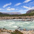 Cold turbulent river - Stock Photo