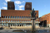 City Hall in central Oslo Norway — Stock Photo