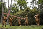 Lourdes , way of cross — Stock Photo