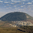 Biblical Mount Tabor and the Arab village — Photo