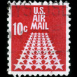 Air Mail stamp 50 Stars — Stock Photo