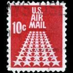 Air Mail stamp 50 Stars — Stock Photo