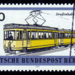 Stock Photo: Yellow electric tram in Berlin